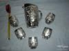5 ks pohárků+džbánek-STŘÍBRNÝ NÁDECH-NOVÝ BOR - foto 1