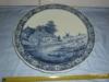 Nádherný velký masivn.talíř na zeď-Vesnice s mlýny
