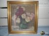 Starý obraz na plátně-zátiší s květinami 64,5x57,8