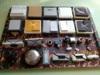 Vypínače 220 V +  kovový zvonek