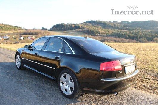 Audi A8 velmi krásný černý vůz ČR