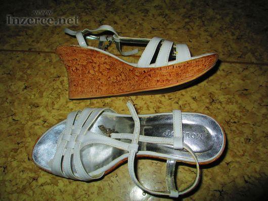 Bílé letní boty