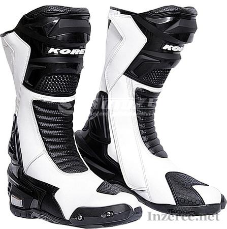 Boty na motorku Kore Sport černo-bílé