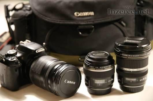 Canon EOS 600D se sadou objektivů Canon