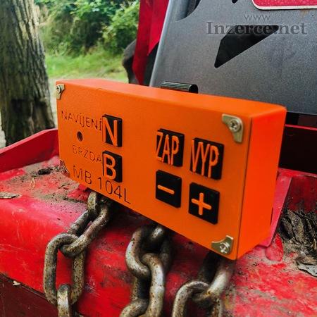 Dálkové ovládání navijáku lesního traktoru
