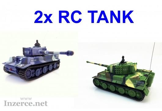 Dárek pro sourozence - 2x RC mini tank Tiger