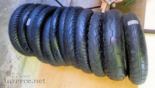 Daruji pneumatiky na motorku