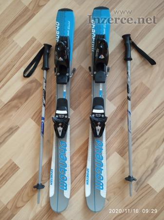 Dětské lyže 90cm + hůlky