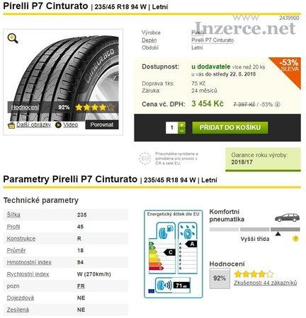 Disky R18 + pneu PIRELLI