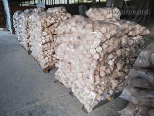 Dřevěné bukové brikety