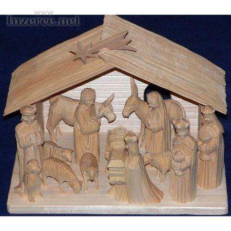 Dřevěné ručně vyřezávané betlémy