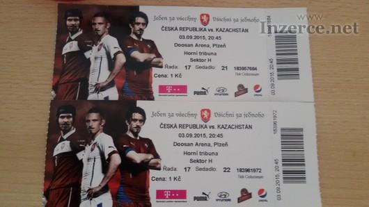 Dva lístky na ČR x Kazachstán Kvalifikace ME
