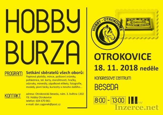 Hobby burza v OTROKOVICÍCH, neděle 18.11.2018