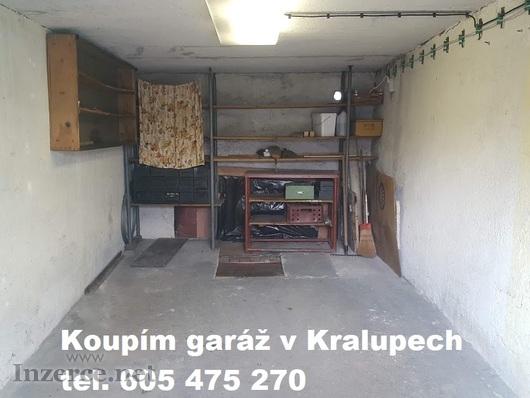 Inzerát Garáž Kralupy koupím sháním garáž