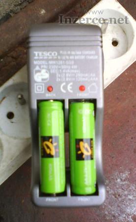 Nabíječka baterií Tesco