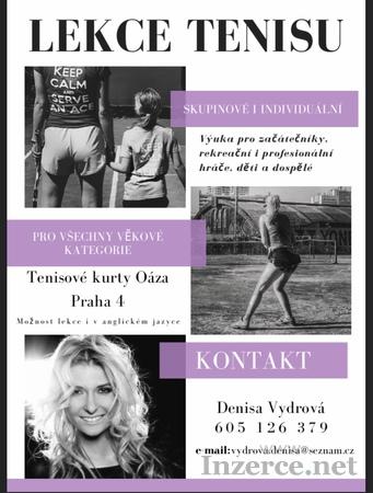 Nabizim lekce tenisu!