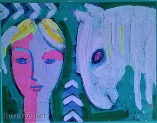 Obraz Jaroslav Blažek, Bílý kůň