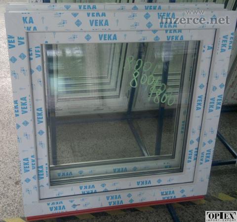 Plastové okno 80x80 bílé