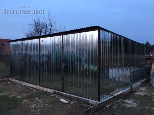 PLECHOVÁ GARÁŽ 6 x 5 m   6 x 6 m