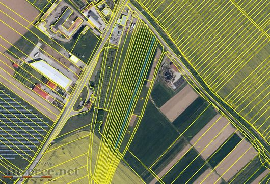 Polešovice okr.UH prodej pozemků orná půda 3878 m2