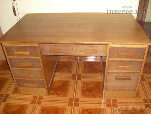 Pracovní stůl (masiv) - starožitný