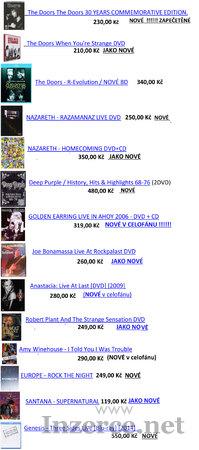 Převážně ROCKOVÁ DVD a BD