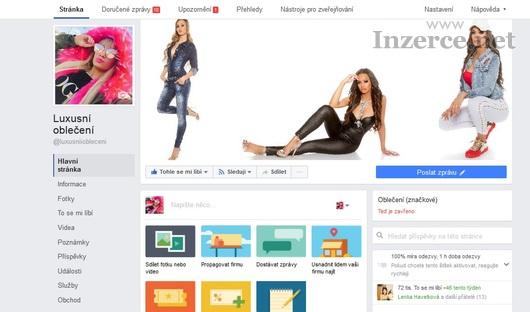 Prodám facebookovou stránku Luxusní oblečení