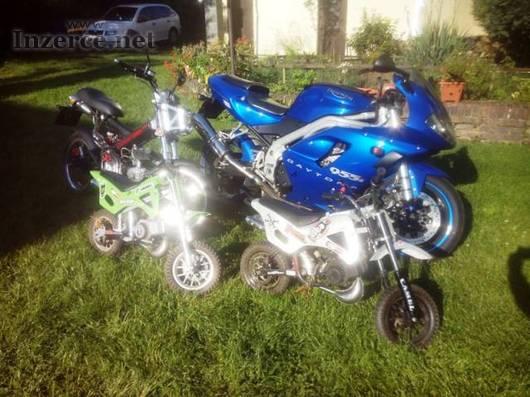 Prodám motorky Triumph, Sachs, Minicross