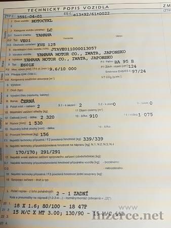 Prodám YAMAHA XVS 125, DragStar
