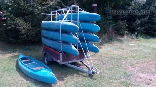 Prodej půjčovny vodáckého vybavení, plastové kanoe