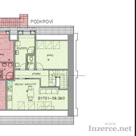 Pronájem komerční prostory a byt 2+1