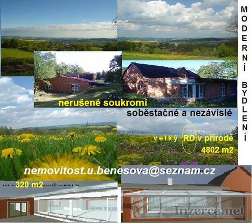 RD(novostavba)Bydlení v přírodě,320m2,pozemek4802m