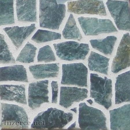 Rula řecká černozelená přírodní kámen