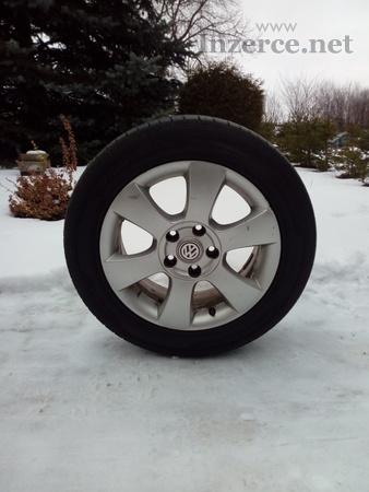 Sada letních pneu na VW Golf Plus