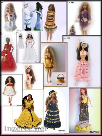 Šatičky na panenky barbie