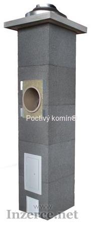 Sestava komínových prvků pro stavbu komínu