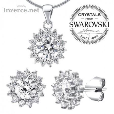 Stříbrná souprava šperků se Swarovski