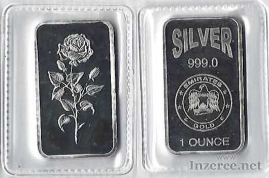 Stříbrný slitek 1 Oz Emirates Gold