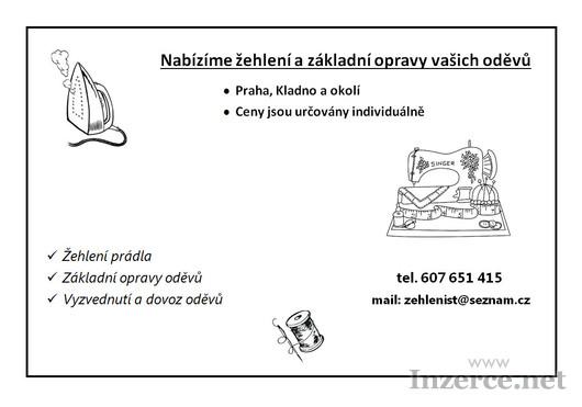 Žehlení a opravy oděvů s dovozem