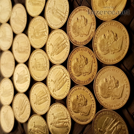 Zlaté mince, rakousko uhersko, František Josef I.