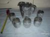 5 ks pohárků+džbánek-STŘÍBRNÝ NÁDECH-NOVÝ BOR - foto 2