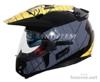 Enduro přilba se sluneční clonou RSA MX-01 č/š/ž - foto 2