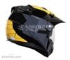 Enduro přilba se sluneční clonou RSA MX-01 č/š/ž - foto 3
