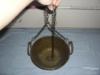 Pěkný mosazný kotlík s řetězem-jen pověsit a vařit - foto 4