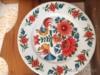 Polička k keramickými ručně malovanými talíři - foto 4